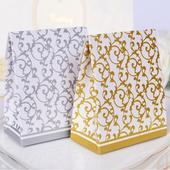 Krabička na darčeky pre hostí - 50 ks strieborná,