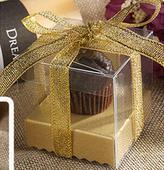 Box na koláčik - 100 ks zlatý,
