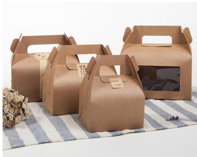 Box na zákusky hnedý 17,5x9,5x10 cm s okienkom - Obrázok č. 1