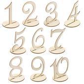 10 ks drevených čísiel 1-10,