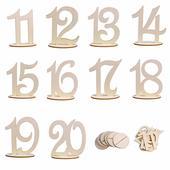 10 ks drevených čísiel 10-20,