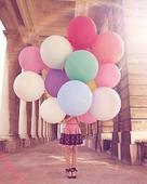 90 cm balóny rôzne farby - 5 ks ,