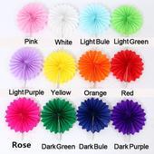 Pom pom kvet rôzne farby - 20 cm,