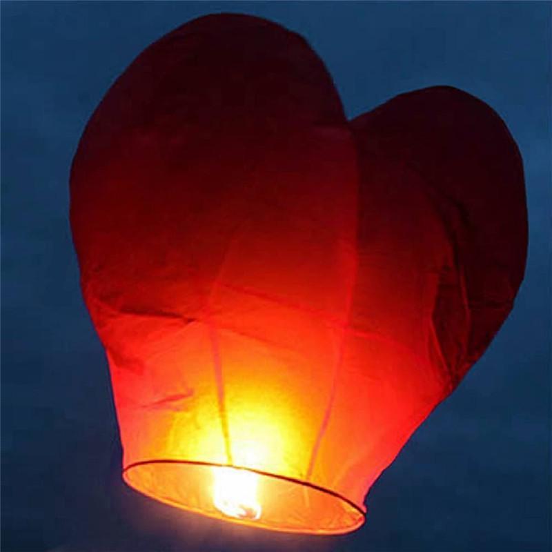 Lampión šťastia srdce 1 ks - Obrázok č. 1