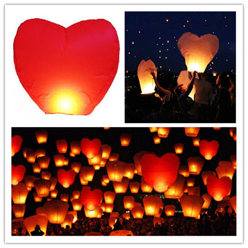 Lampión šťastia srdce 1 ks - Obrázok č. 2