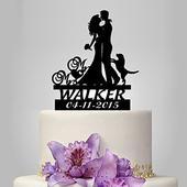 Ženícha nevesta s dátumom svadby a s priezviskom,