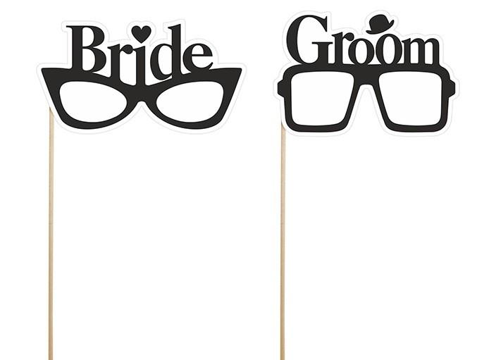 Rekvizity na fotenie okuliare pre novomanželov - Obrázok č. 1