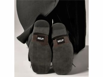 Svadobné nálepky na topánky HELP - Obrázok č. 1