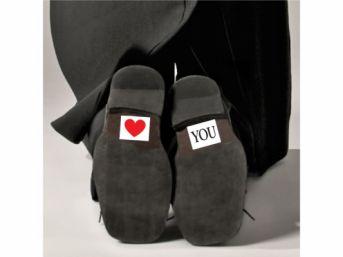 Svadobné nálepky na topánky LOVE YOU 1pár - Obrázok č. 1