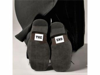 Svadobné nálepky na topánky THE END 1pár - Obrázok č. 1