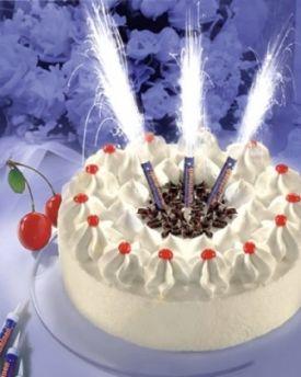 Ohňostroj na tortu - tortová fontána 12cm 1ks - Obrázok č. 1