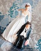 Svadobné postavičky na tortu, výška 12 cm,
