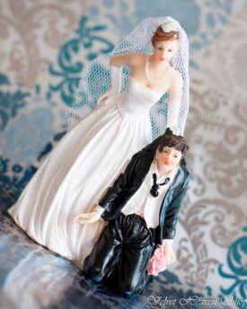 Svadobné postavičky na tortu, výška 12 cm - Obrázok č. 1