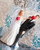 Svadobné postavičky na tortu, výška 14,5 cm,