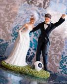 Svadobné postavičky na tortu, výška 15 cm,