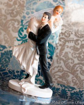 Svadobné postavičky na tortu, výška 14 cm - Obrázok č. 1