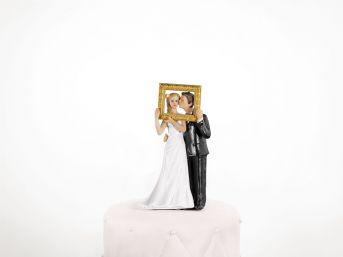 Svadobné postavičky na tortu, výška 14,5 cm - Obrázok č. 1