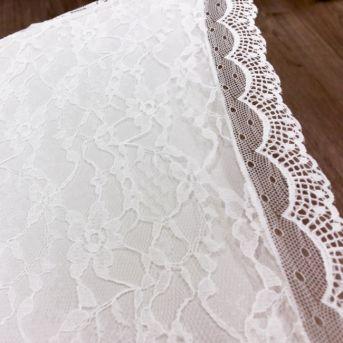 Dáždnik čipkovaný biely - Obrázok č. 1