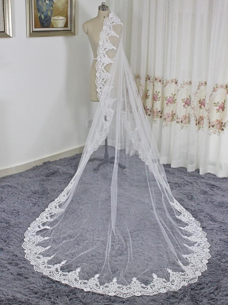 Závoj biely alebo ivory - 3 metre - Obrázok č. 2