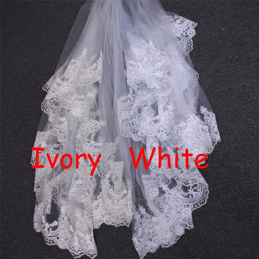 Závoj biely alebo ivory - 3 metre - Obrázok č. 4