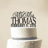 Nápis s priezviskom a dátumom svadby rôzne farby ,