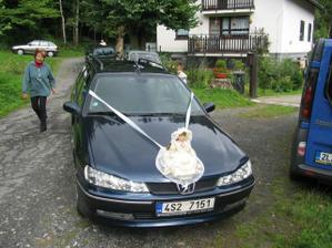 výzdoba auta nevěsty - inspirace