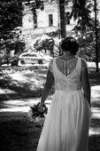 Svatební šaty + šaty pro družičku  šité na míru, 42