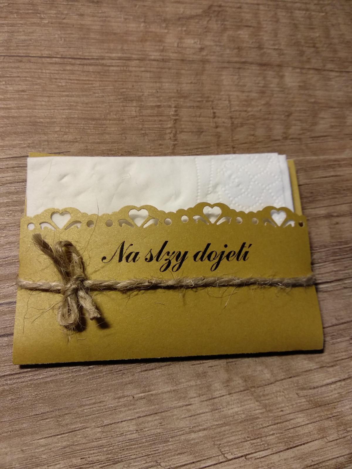 Kapesníčky/kapesníky na slzičky zlaté - Obrázek č. 1