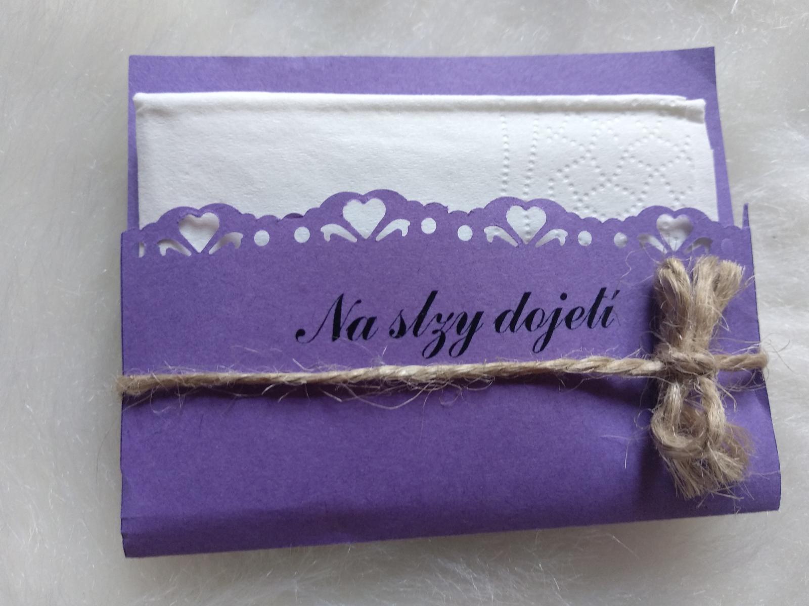 Kapesníčky/kapesníky na slzičky různé barvy  - Obrázek č. 1