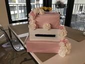 Dekorace z růžovo-bílé svatby,
