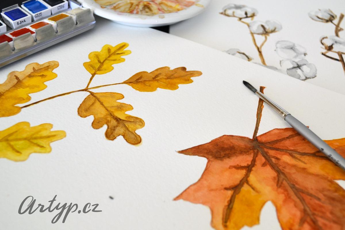 artyp - Podzimní akvarelové ilustrace