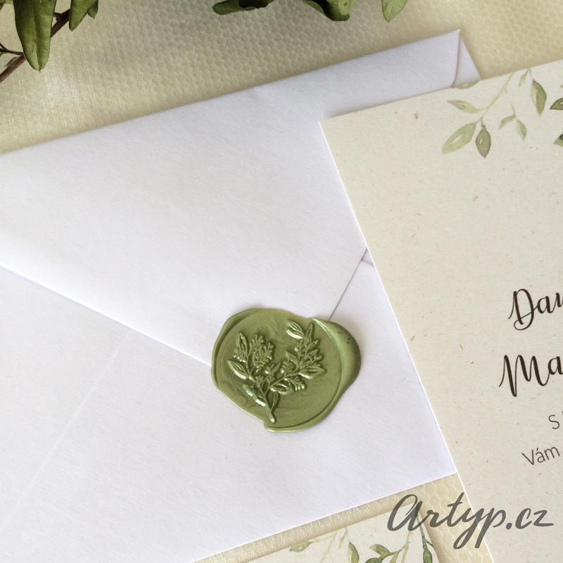 V jarních odstínech zelené - Svatební pečeť - zhotovíme na přání