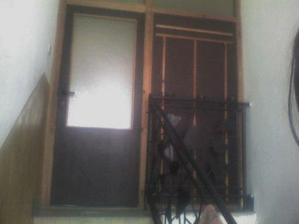 dvere na druhe podlazie