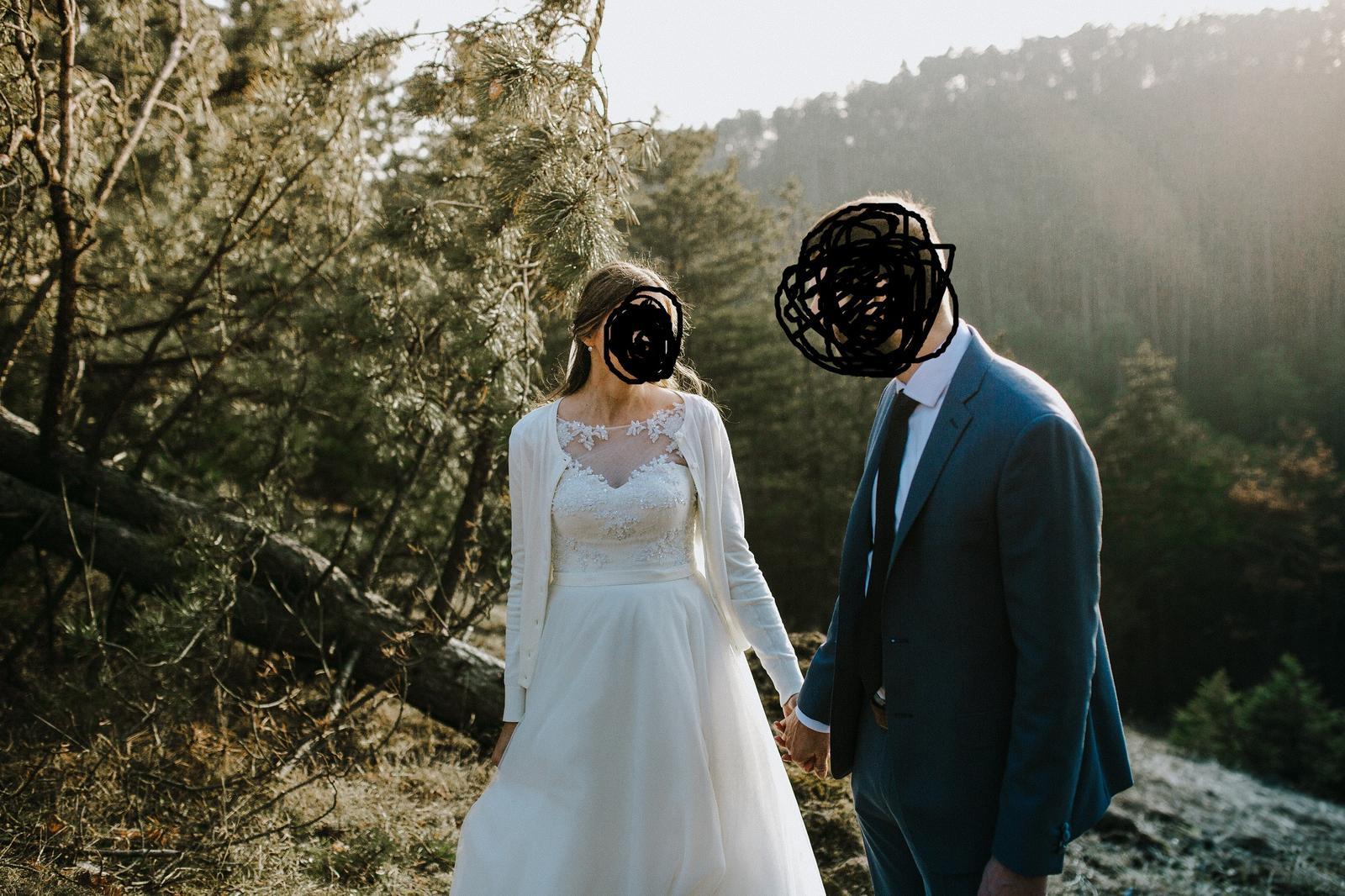 Svadobné šaty na šnúrovanie - Obrázok č. 3