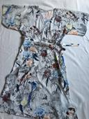 Zavinovací bílé šaty s motivy ptáků, vel. 40, 40