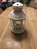 Vintage biele lampáše ,