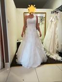Bílé svatební šaty velikost 36, 36