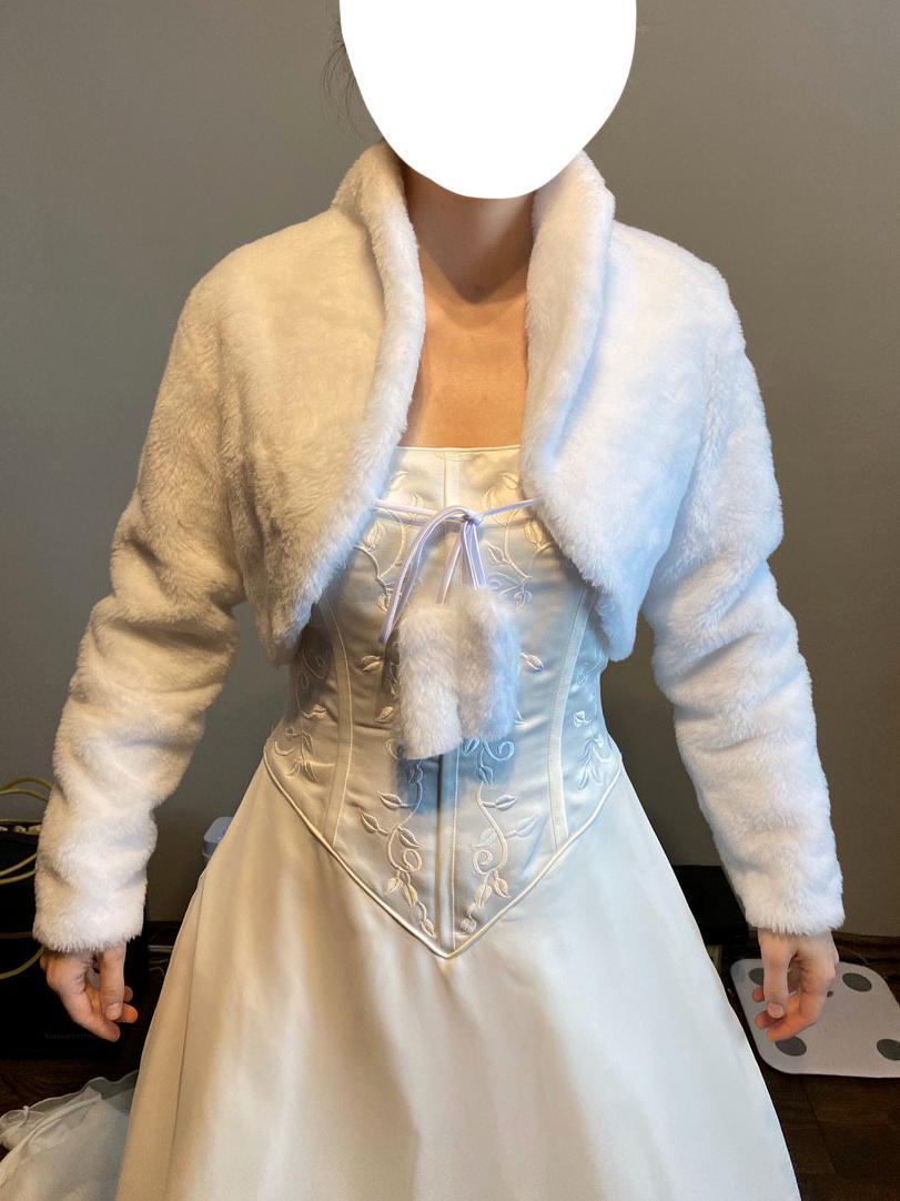 Zimní zateplené bolerko s jemným kožíškem vel. 38 - Obrázek č. 1