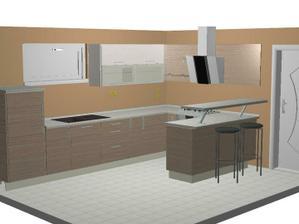 Takto by mala nejako vyzerať kuchyňa(farbu steny nerátam)
