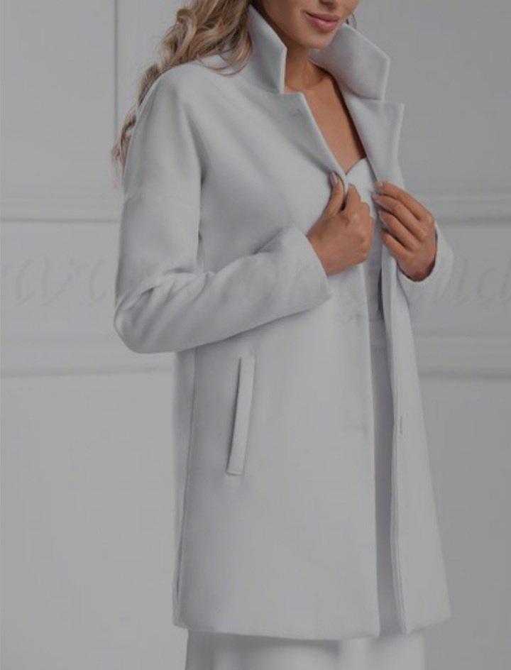 kabát biely - Obrázok č. 1
