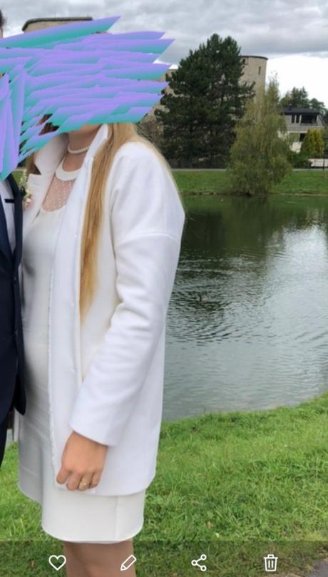 kabát biely - Obrázok č. 3