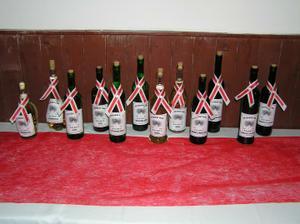 víno už čeká na svatebčany