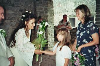Moje svědkyně Katka s dceruškou Klárkou