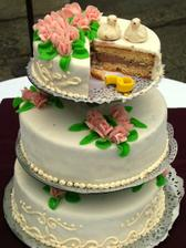 To byly fotky od profesionála a tyto už budou amatérské...Náš prý vynikající dort