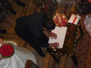 ... ženich to podepsal ...