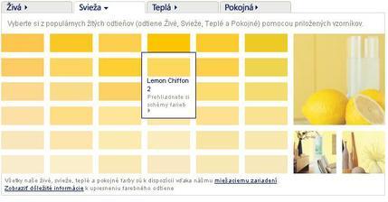 Na steny som zvolila takúto žltú