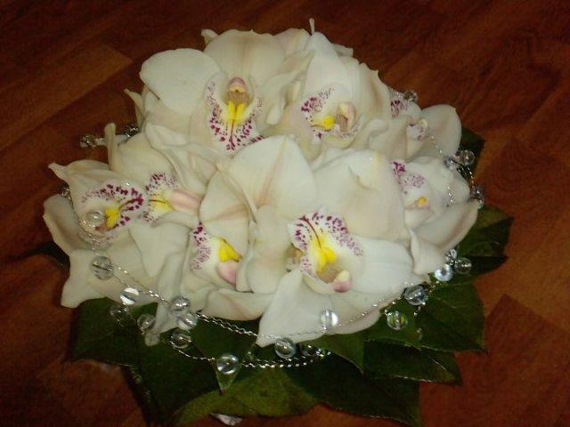 Katka a Maroš - prípravy - Orchideová kytička