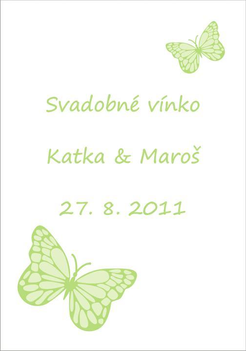 Katka a Maroš - prípravy - Krásne etiketky na vínko :)