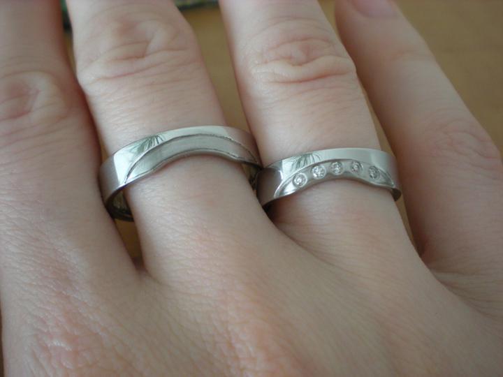 Katka a Maroš - prípravy - A na mojej ruke...tú pánsku bolo treba ešte trošku dočistiť (na foto je nedočistená)....:-D
