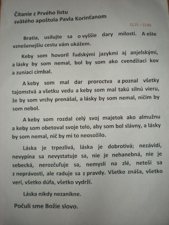 Katka{{_AND_}}Marián - Toto som čítala na omši - veľmi pekné čítanie o láske